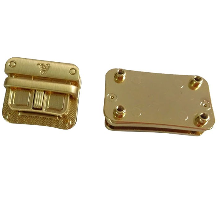 Gold Color Tuck Lock Clasps Press Lock