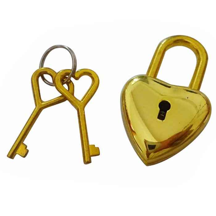 Gold Heart Padlock