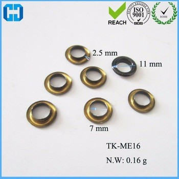 Metal Oval/Round Eyelet Gromments