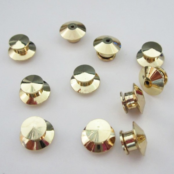 Nickle Flathead clutch lapel pin back